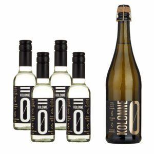 Kolonne Null alkoholfreier Wein & Sekt