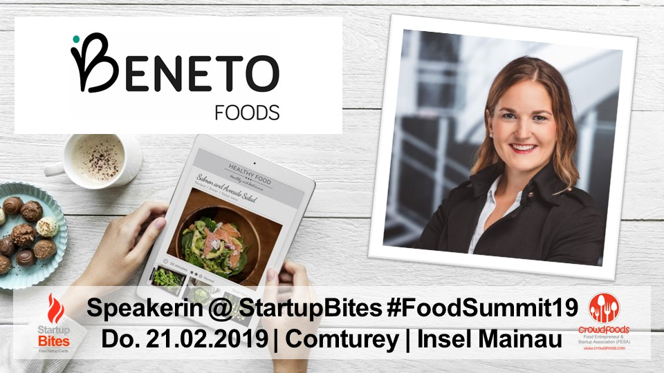 FoodSummit19 Speakerin: Lara Schuhwerk von Beneto