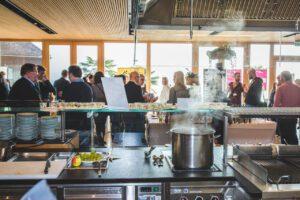 Catering von Food Startups aus der Showküche der Comturey
